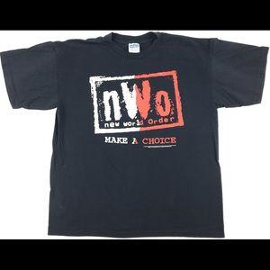 "Gildan Shirts - VTG 1998 WCW NWO New World Order ""Make A Choice"""